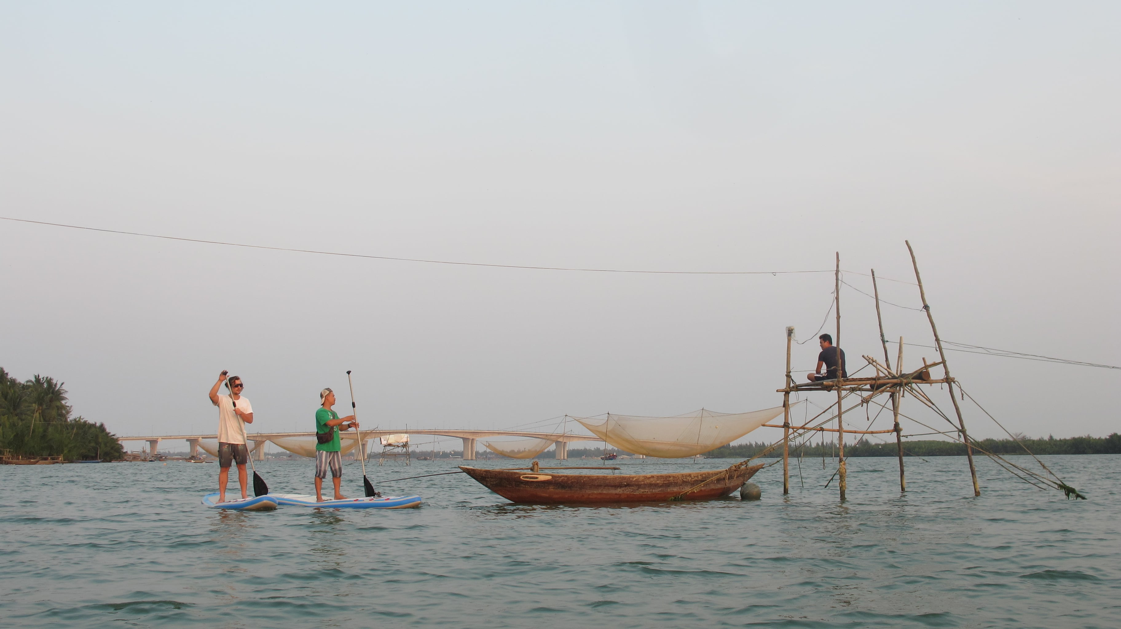 Stand Up Paddle Boarding With Beginners In Hoi An